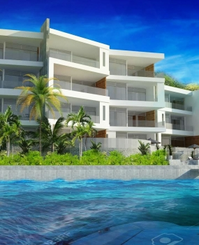 Luxury waterfront apartments to be ready by early next year.