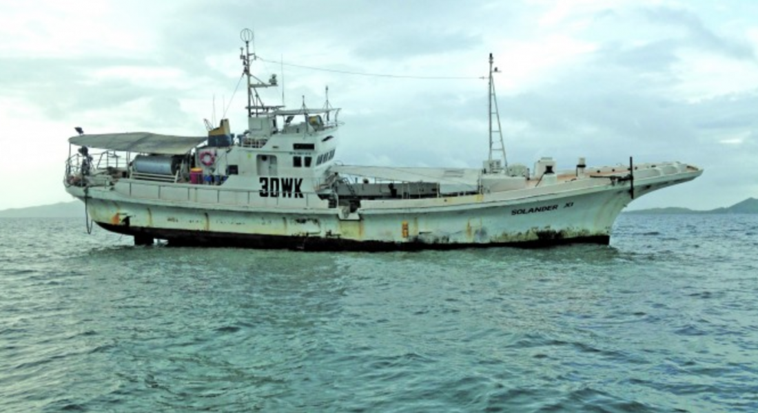 Fishing Vessel Runs Aground In Lau